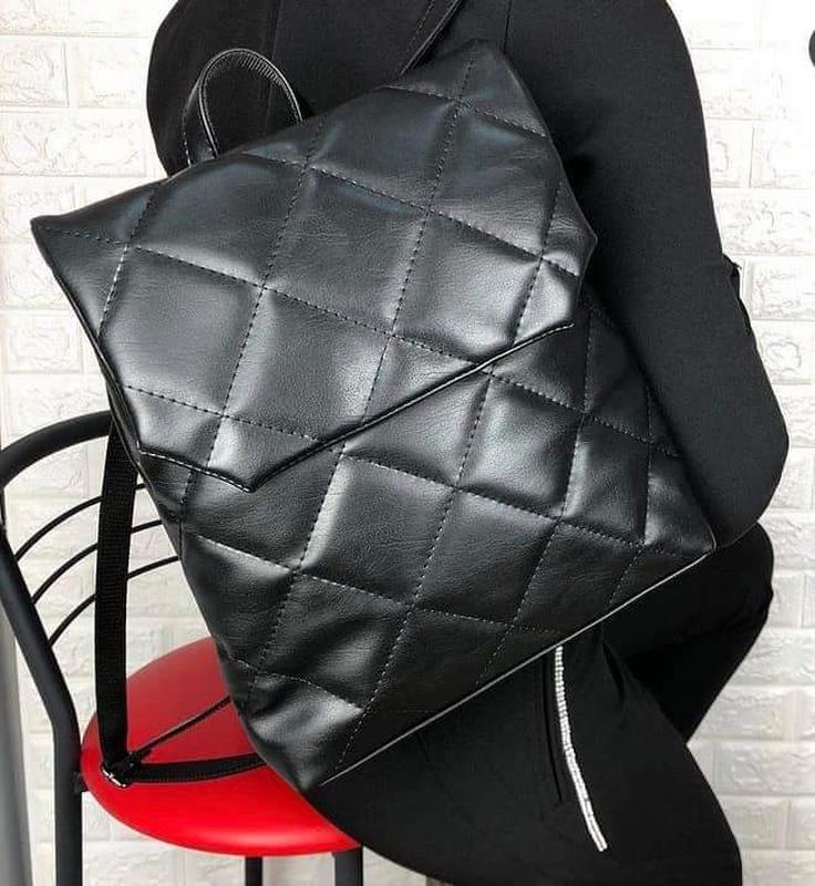 Черный городской рюкзак - Фото 4