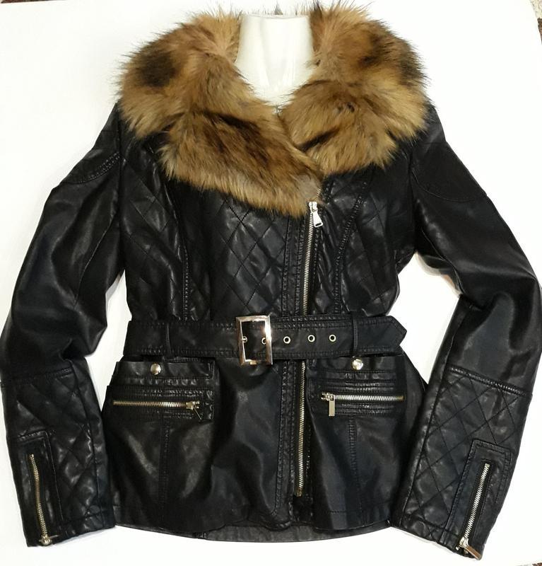 Куртка кожаная, косуха Guess р. L