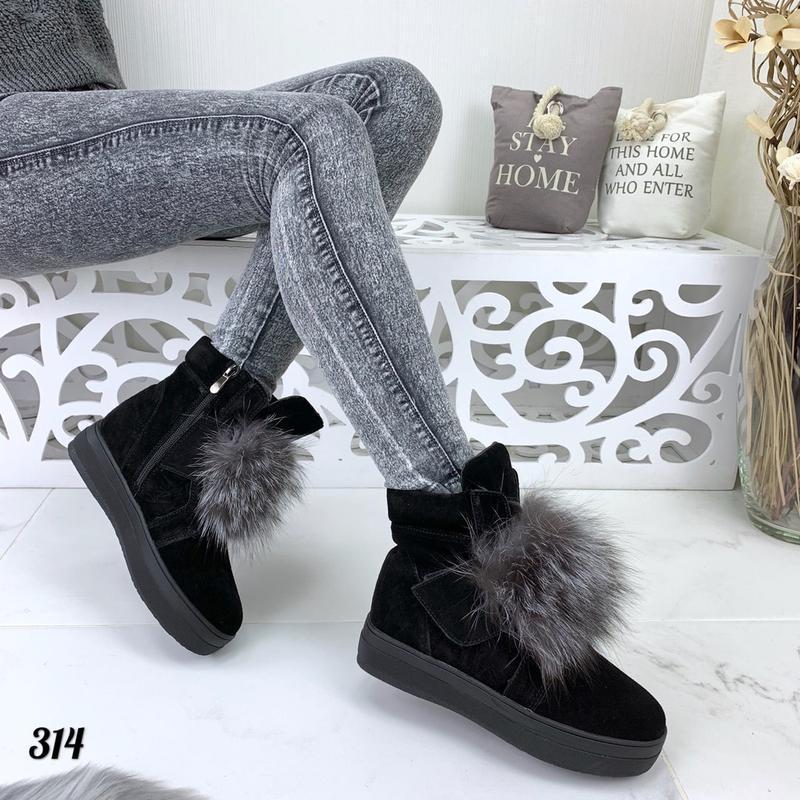 Стильные натуральные ботиночки - Фото 4