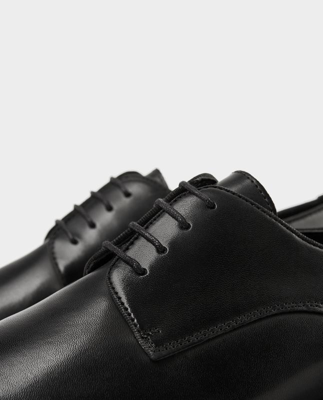 Черные кожаные туфли zara man ! - Фото 6