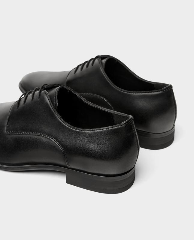 Черные кожаные туфли zara man ! - Фото 7