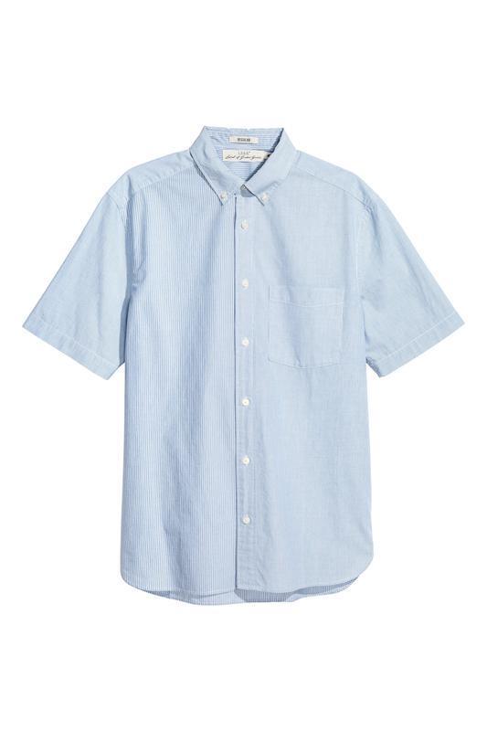 Полосатая рубашка h&m, regular fit !