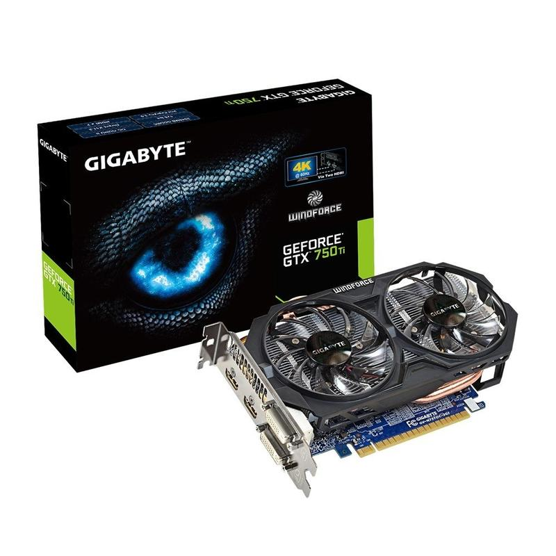 Видеокарта Gigabyte GeForce GTX750 Ti 2Gb DDR5 Windforce