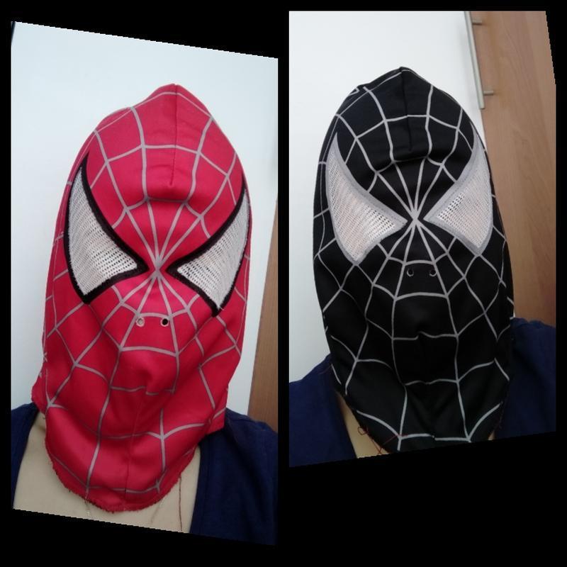 Маска карнавальная двухсторонняя человек паук спайдермен