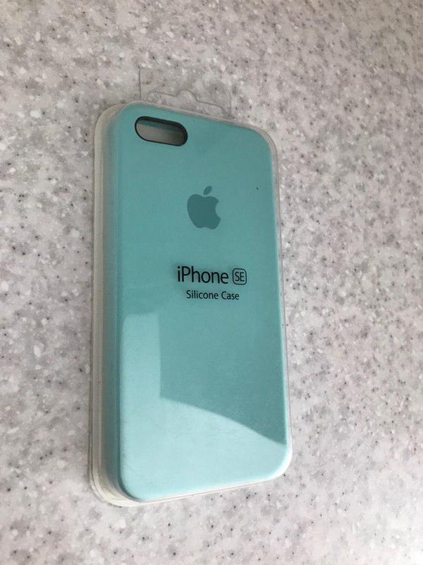 Новый бирюзовый силиконовый чехол для iphone 5\5s\se