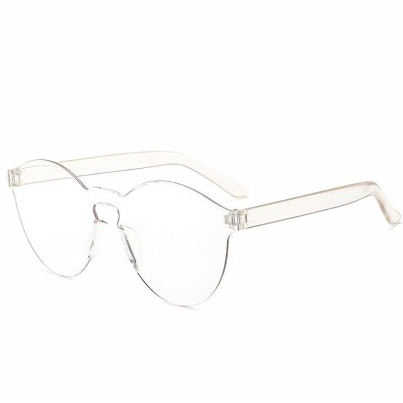 Модные имиджевые пластиковые прозрачные очки