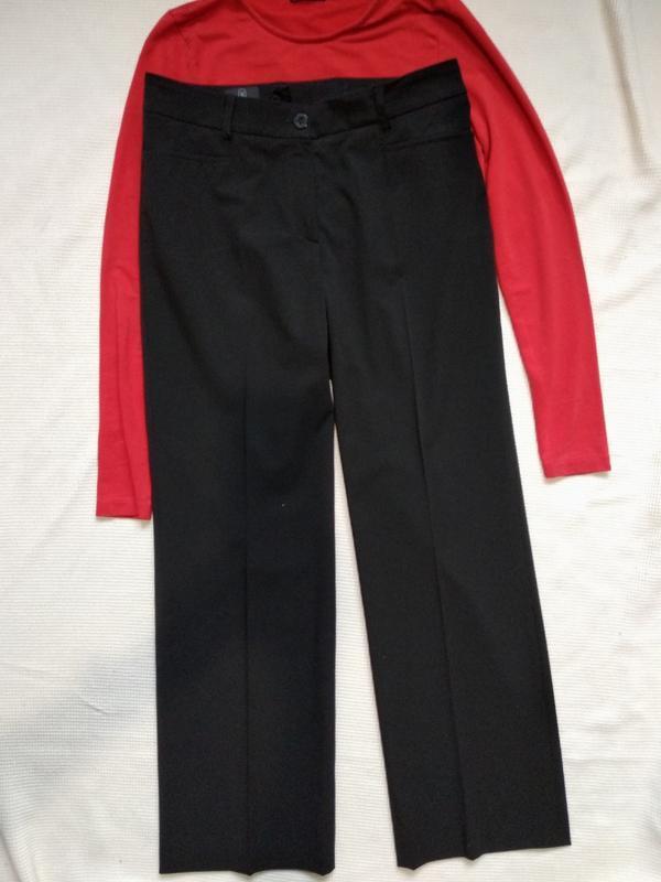 Классические черные прямые брюки штаны madeleine