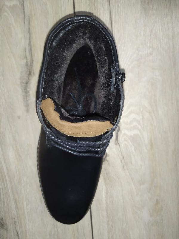 Зимние ботинки мужские классика зимові чоловічі полуботинки - Фото 2