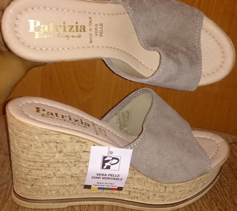 Сірі босоніжки patricia boutique італія замша р38 нові