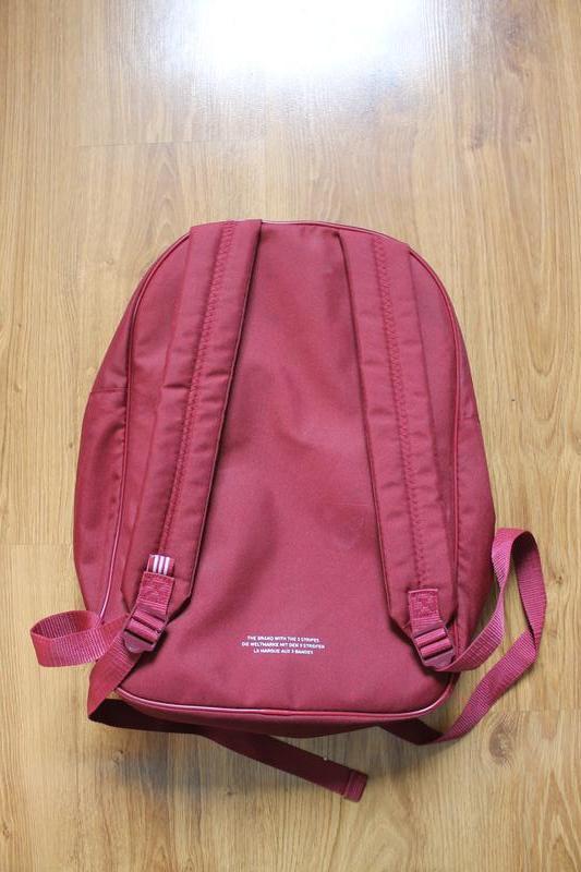 Топовый бордовый вместительный рюкзак adidas bp clas trefoil - Фото 3