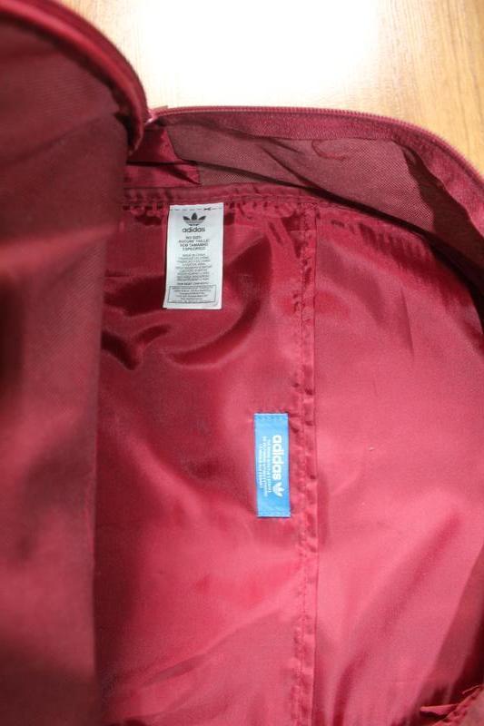 Топовый бордовый вместительный рюкзак adidas bp clas trefoil - Фото 6