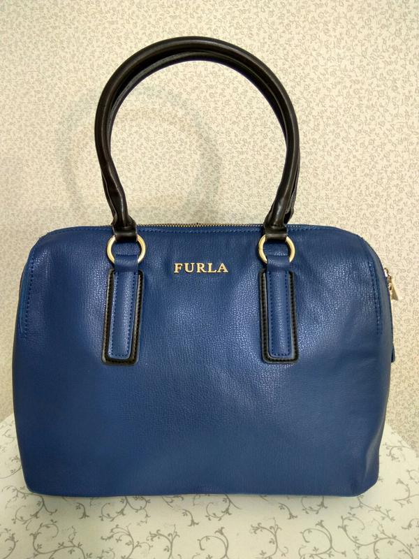 Кожаная сумка furla - Фото 2