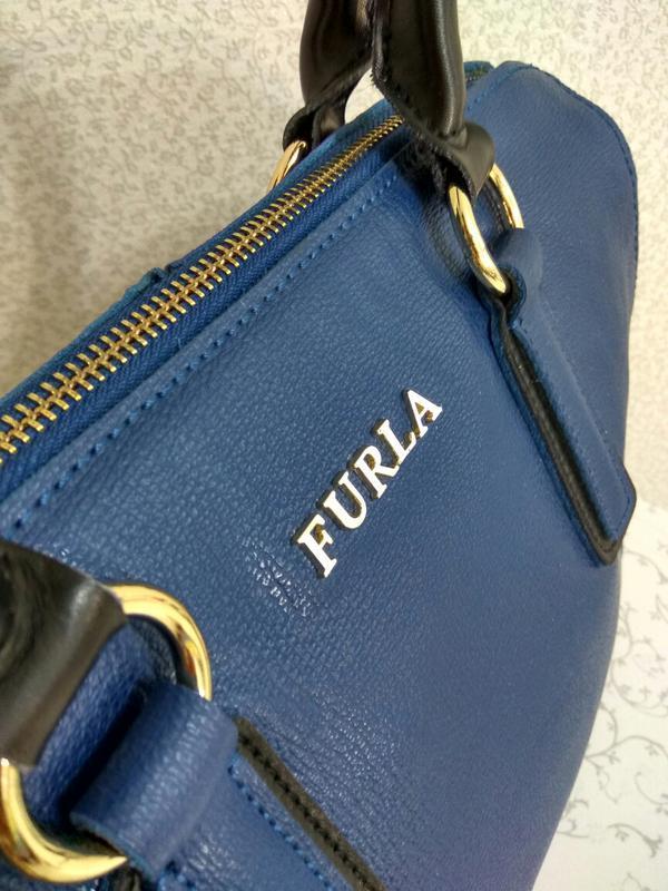Кожаная сумка furla - Фото 4