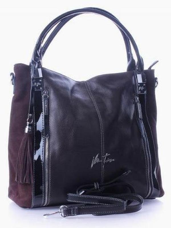 Кожаная сумка 2019 velina fabbiano, оригинал