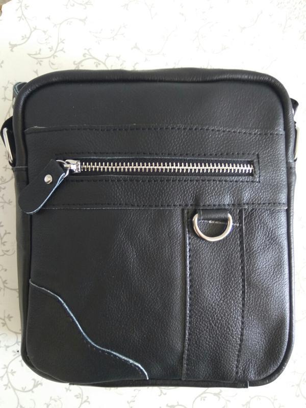 Кожаная мужская сумка, через плечо. натуральная кожа по супер ...