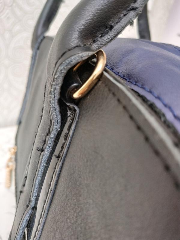 Кожаная женская сумка дешево, с ремешком через плечо. уценка. ... - Фото 3