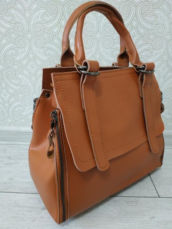 Сумка из натуральной кожи, женские кожаные сумки с длинным рем...