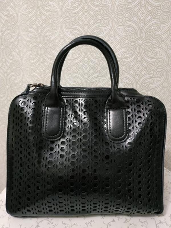 Кожаная сумка черная, сумки из натуральной кожи 2018 2019 с ре...