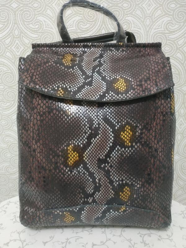 Кожаный рюкзак сумка, рюкзаки из натуральной кожи лазерной обр... - Фото 2