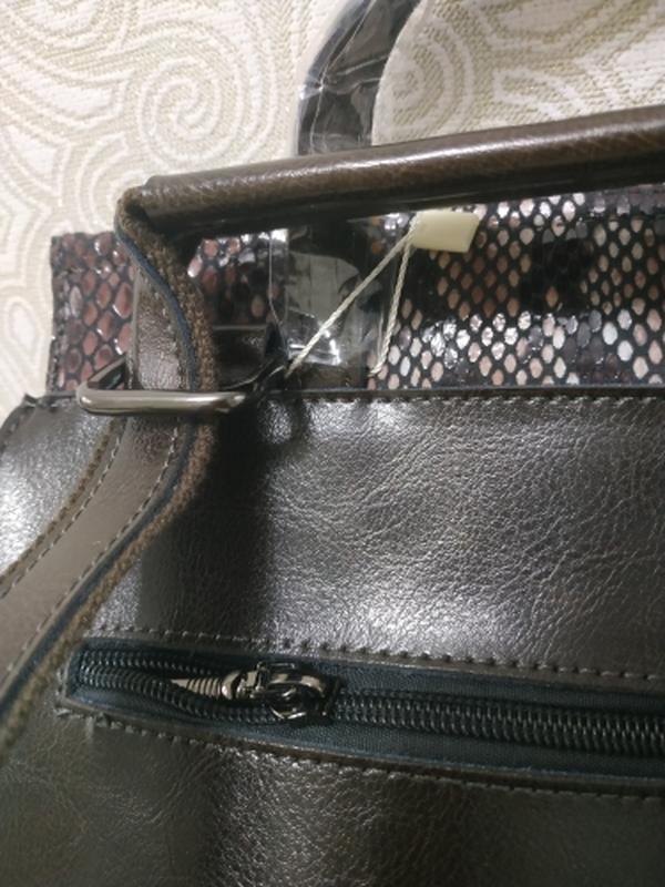Кожаный рюкзак сумка, рюкзаки из натуральной кожи лазерной обр... - Фото 4