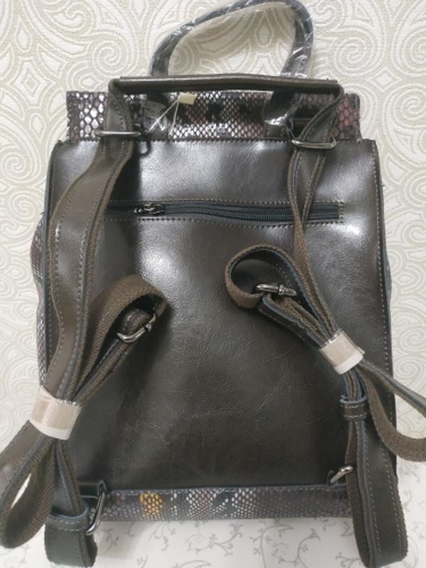 Кожаный рюкзак сумка, рюкзаки из натуральной кожи лазерной обр... - Фото 5