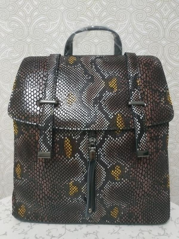 Кожаная сумка рюкзак, сумки рюкзаки из натуральной кожи лазерн... - Фото 2