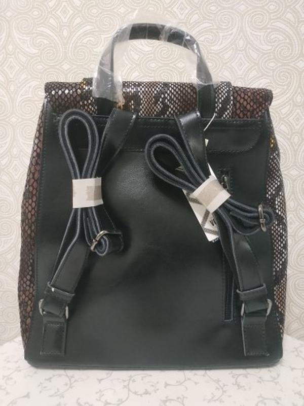 Кожаная сумка рюкзак, сумки рюкзаки из натуральной кожи лазерн... - Фото 5