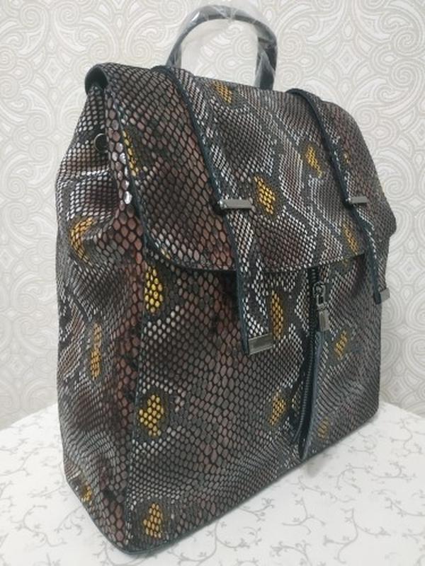 """Кожаный рюкзак черный """"рептилия"""", рюкзаки из натуральной кожи ..."""