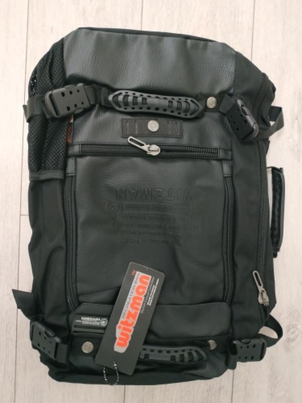 Рюкзак трансформер дорожная сумка для ноутбука портфель witzma... - Фото 3
