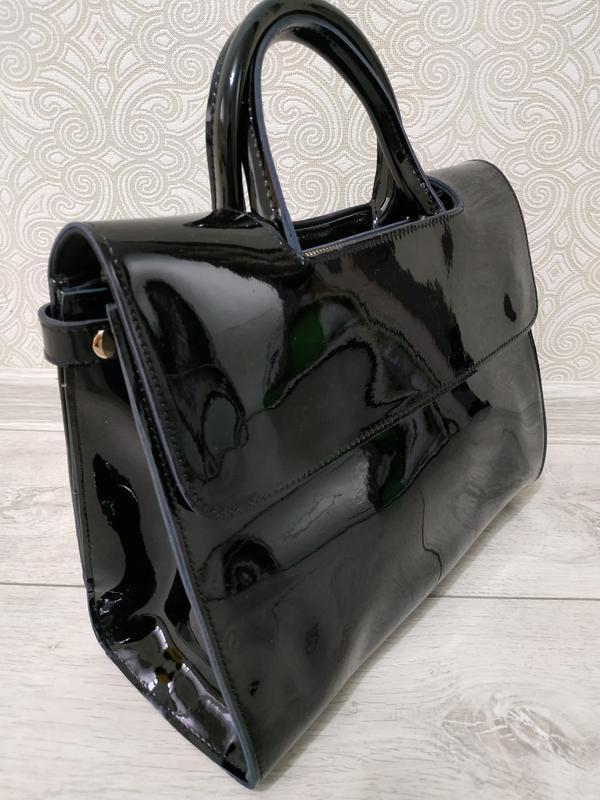 """Кожаная элитная сумка с буквами 2019, черные сумки класса """"люк..."""