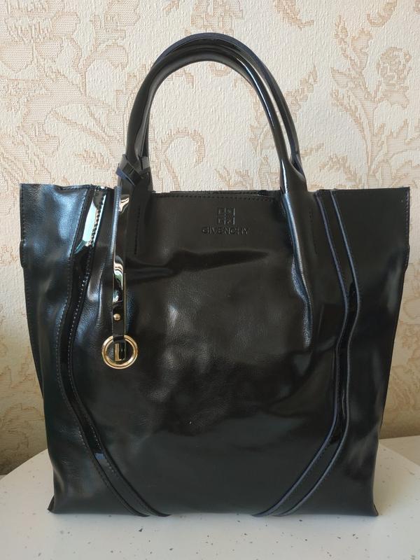 Кожаная элитная сумка 2019 шкіряна́ шоппер, черные сумки из на...