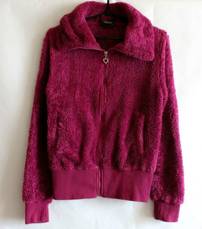 Махровая тёплая кофта цвета фуксии benhoo wear
