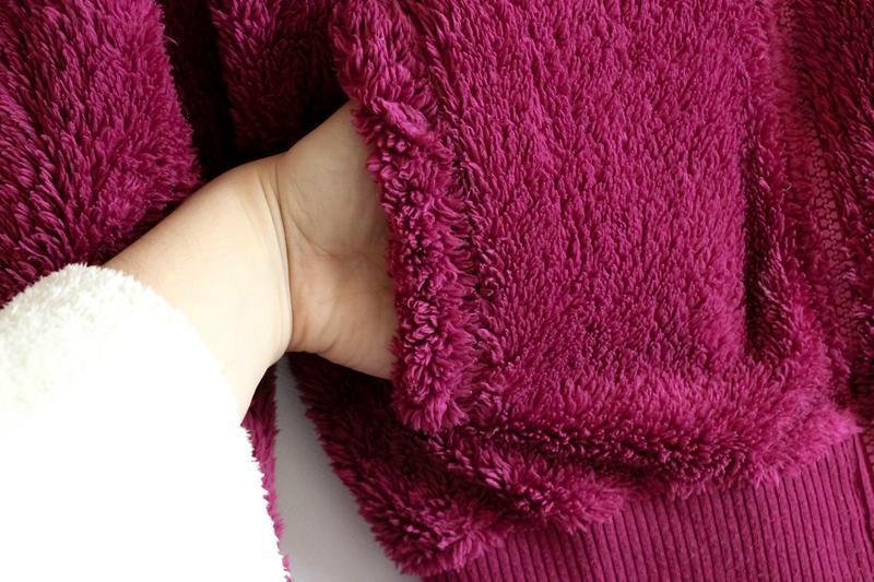 Махровая тёплая кофта цвета фуксии benhoo wear - Фото 2