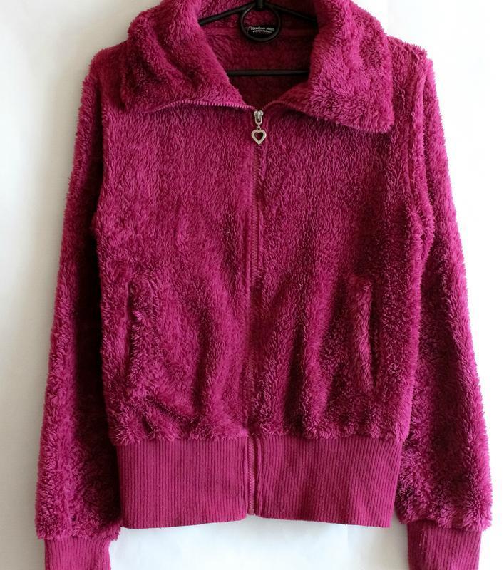 Махровая тёплая кофта цвета фуксии benhoo wear - Фото 3