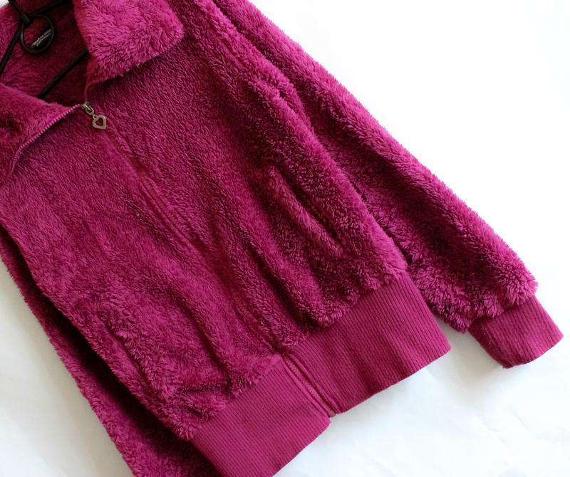 Махровая тёплая кофта цвета фуксии benhoo wear - Фото 4