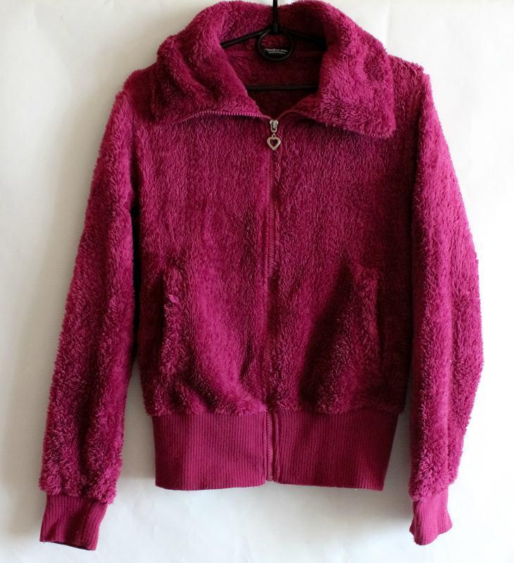 Махровая тёплая кофта цвета фуксии benhoo wear - Фото 6