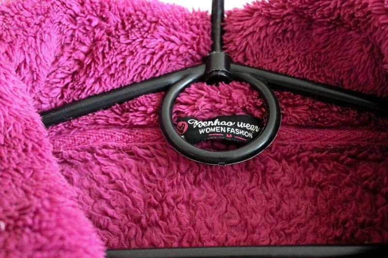 Махровая тёплая кофта цвета фуксии benhoo wear - Фото 7