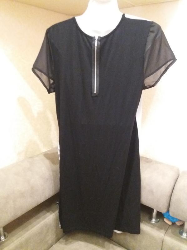 Прямое платье принт дерево--вискоза - распродажа - Фото 5