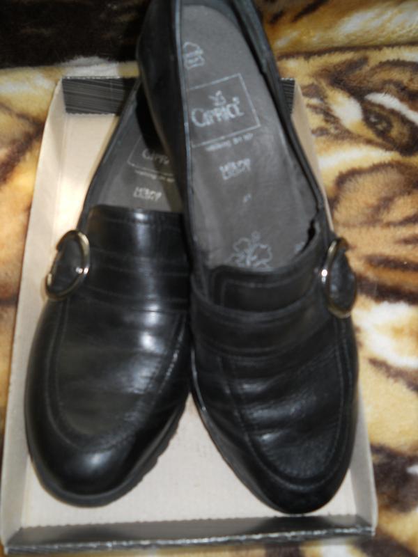 Туфли на танкетке сapriсe,натуральная кожа,,стелька 27 см