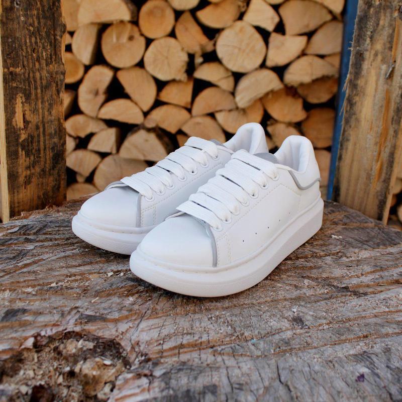 Шикарные кроссовки alexander mcqueen white (весна/ лето/ осень) - Фото 4