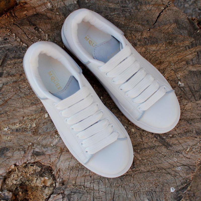 Шикарные кроссовки alexander mcqueen white (весна/ лето/ осень) - Фото 5