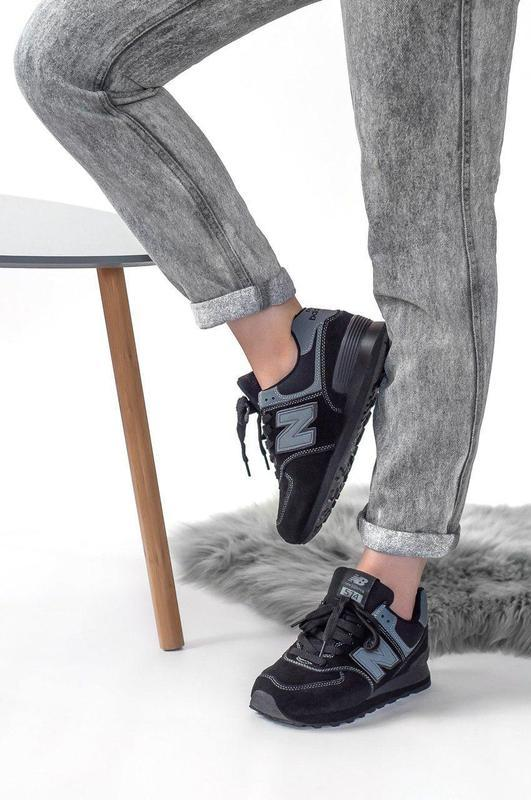 Шикарные женские кроссовки new balance 574 (весна/ лето/ осень) - Фото 3
