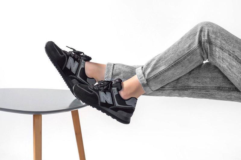 Шикарные женские кроссовки new balance 574 (весна/ лето/ осень) - Фото 4