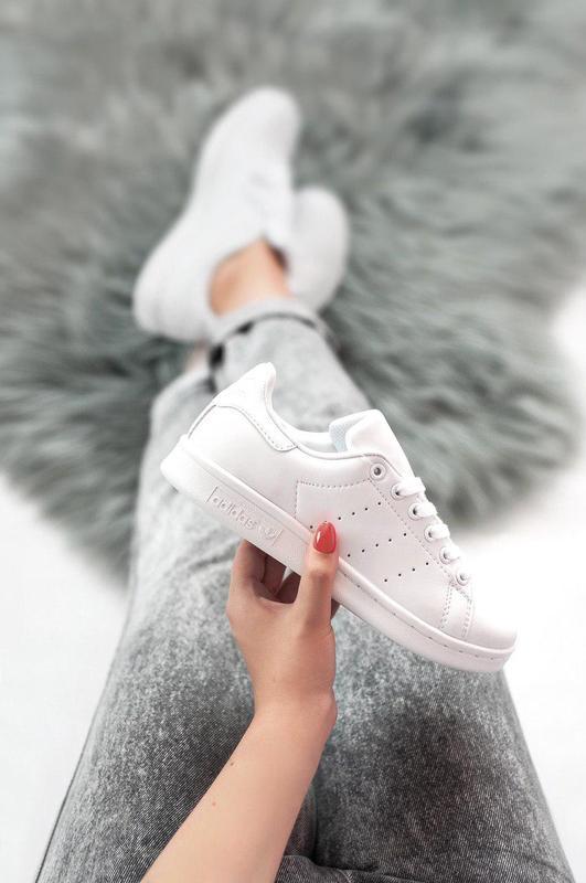 Шикарные женские кроссовки adidas stan smith (весна/ лето/ осень)