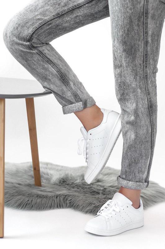Шикарные женские кроссовки adidas stan smith (весна/ лето/ осень) - Фото 4