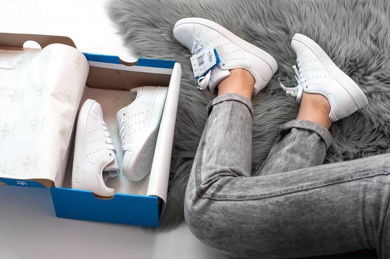 Шикарные женские кроссовки adidas stan smith (весна/ лето/ осень) - Фото 5