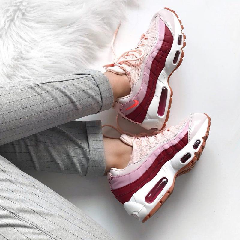 Шикарные женские кроссовки nike air max 95 (весна/ лето/ осень) - Фото 4