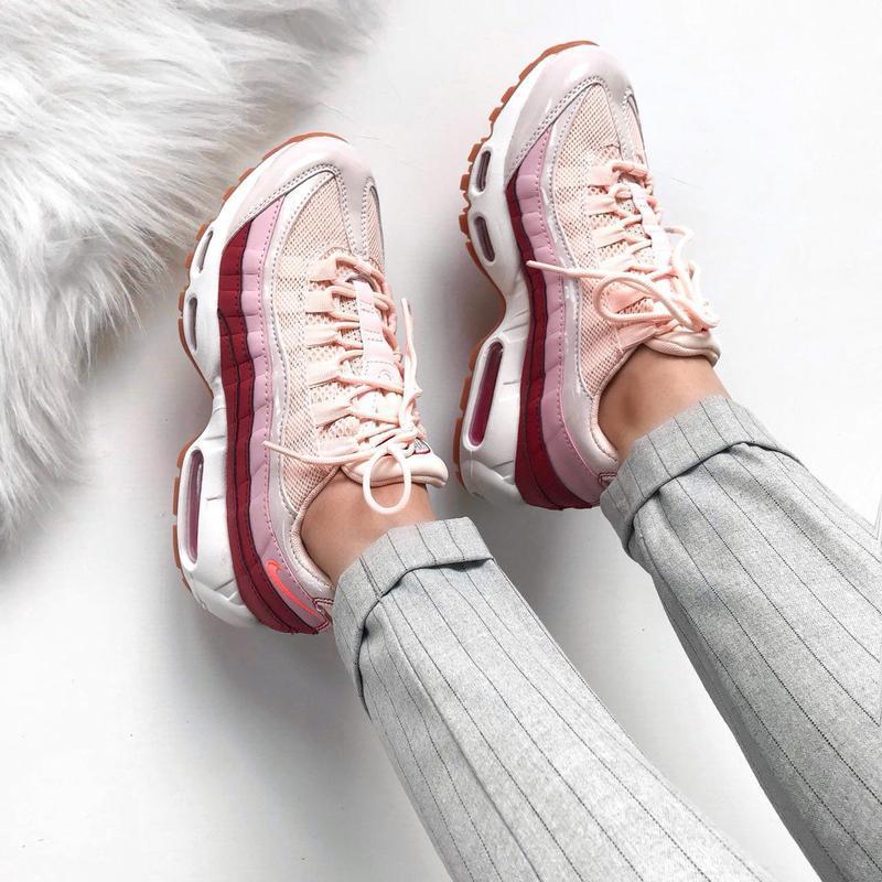 Шикарные женские кроссовки nike air max 95 (весна/ лето/ осень) - Фото 5