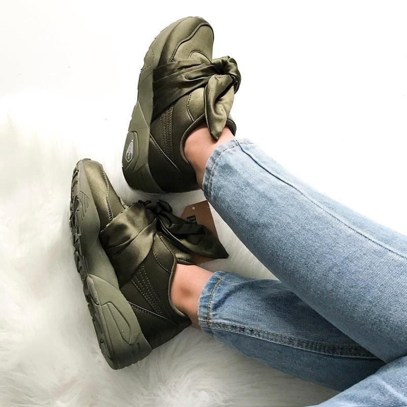 Шикарные женские кроссовки puma rihanna  (весна/ лето/ осень) - Фото 4