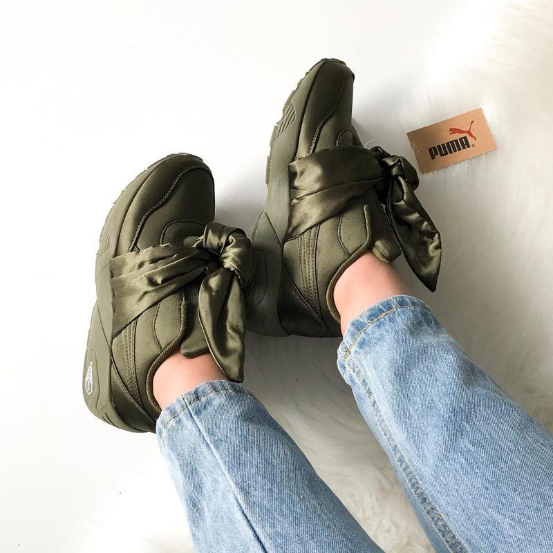 Шикарные женские кроссовки puma rihanna  (весна/ лето/ осень) - Фото 5